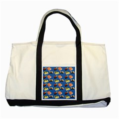 Sushi Pattern Two Tone Tote Bag by Valentinaart