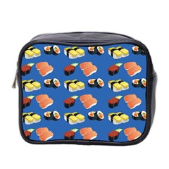 Sushi Pattern Mini Toiletries Bag 2 Side by Valentinaart