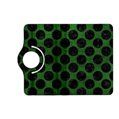 Circles2 Black Marble & Green Leather (r) Kindle Fire Hd (2013) Flip 360 Case by trendistuff