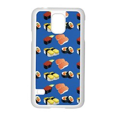 Sushi Pattern Samsung Galaxy S5 Case (white) by Valentinaart