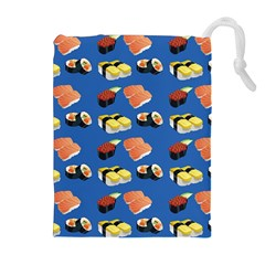 Sushi Pattern Drawstring Pouches (extra Large) by Valentinaart