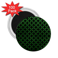 Circles3 Black Marble & Green Leather 2 25  Magnets (100 Pack)  by trendistuff