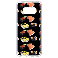 Sushi Pattern Samsung Galaxy S8 White Seamless Case by Valentinaart