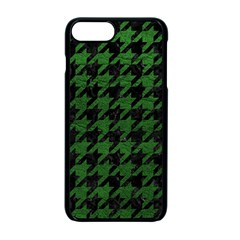 Houndstooth1 Black Marble & Green Leather Apple Iphone 7 Plus Seamless Case (black) by trendistuff