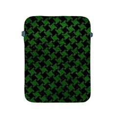 Houndstooth2 Black Marble & Green Leather Apple Ipad 2/3/4 Protective Soft Cases by trendistuff
