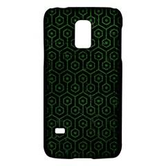 Hexagon1 Black Marble & Green Leather Galaxy S5 Mini by trendistuff