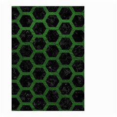 Hexagon2 Black Marble & Green Leather Small Garden Flag (two Sides) by trendistuff