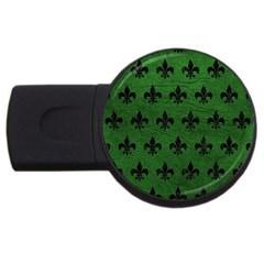 Royal1 Black Marble & Green Leather Usb Flash Drive Round (4 Gb)