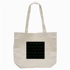 Royal1 Black Marble & Green Leather (r) Tote Bag (cream) by trendistuff