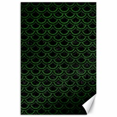 Scales2 Black Marble & Green Leatherscales2 Black Marble & Green Leather Canvas 24  X 36  by trendistuff