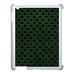 Scales2 Black Marble & Green Leatherscales2 Black Marble & Green Leather Apple Ipad 3/4 Case (white) by trendistuff