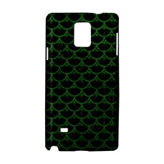 Scales3 Black Marble & Green Leather Samsung Galaxy Note 4 Hardshell Case by trendistuff