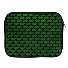 Scales3 Black Marble & Green Leather (r) Apple Ipad 2/3/4 Zipper Cases by trendistuff