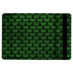 Scales3 Black Marble & Green Leather (r) Ipad Air 2 Flip by trendistuff