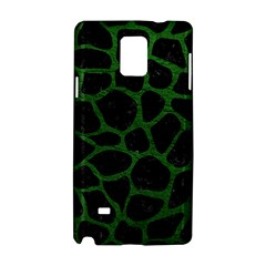 Skin1 Black Marble & Green Leather (r) Samsung Galaxy Note 4 Hardshell Case by trendistuff