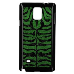 Skin2 Black Marble & Green Leather (r) Samsung Galaxy Note 4 Case (black) by trendistuff