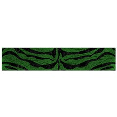 Skin2 Black Marble & Green Leather (r) Flano Scarf (small) by trendistuff