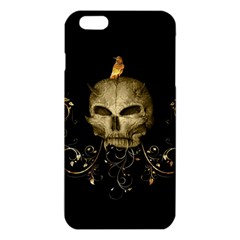 Golden Skull With Crow And Floral Elements Iphone 6 Plus/6s Plus Tpu Case by FantasyWorld7