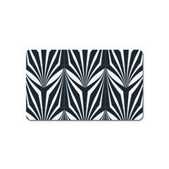 Art Deco, Black,white,graphic Design,vintage,elegant,chic Magnet (name Card) by 8fugoso