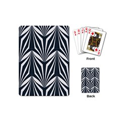 Art Deco, Black,white,graphic Design,vintage,elegant,chic Playing Cards (mini)  by 8fugoso