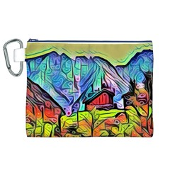 Magic Cube Abstract Art Canvas Cosmetic Bag (xl) by 8fugoso