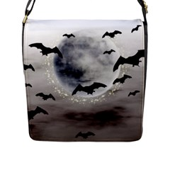Bats On  The Moon Flap Messenger Bag (l)  by AllOverIt