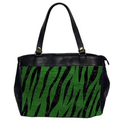 Skin3 Black Marble & Green Leather (r) Office Handbags (2 Sides)  by trendistuff