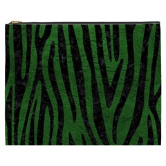 Skin4 Black Marble & Green Leather Cosmetic Bag (xxxl)  by trendistuff