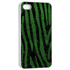 Skin4 Black Marble & Green Leather (r) Apple Iphone 4/4s Seamless Case (white) by trendistuff