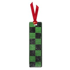 Square1 Black Marble & Green Leather Small Book Marks by trendistuff
