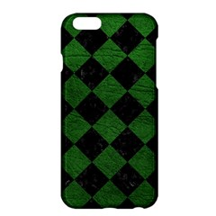 Square2 Black Marble & Green Leather Apple Iphone 6 Plus/6s Plus Hardshell Case by trendistuff