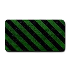 Stripes3 Black Marble & Green Leather (r) Medium Bar Mats by trendistuff