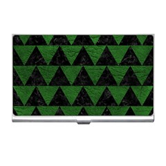 Triangle2 Black Marble & Green Leather Business Card Holders by trendistuff