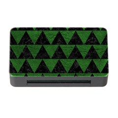 Triangle2 Black Marble & Green Leather Memory Card Reader With Cf by trendistuff