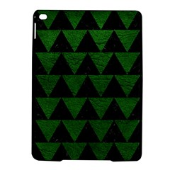 Triangle2 Black Marble & Green Leather Ipad Air 2 Hardshell Cases by trendistuff
