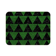 Triangle2 Black Marble & Green Leather Double Sided Flano Blanket (mini)  by trendistuff