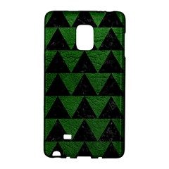 Triangle2 Black Marble & Green Leather Galaxy Note Edge