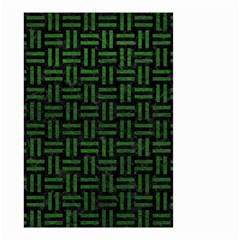 Woven1 Black Marble & Green Leather Small Garden Flag (two Sides) by trendistuff