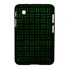 Woven1 Black Marble & Green Leather Samsung Galaxy Tab 2 (7 ) P3100 Hardshell Case  by trendistuff