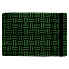 Woven1 Black Marble & Green Leather Ipad Air Flip by trendistuff
