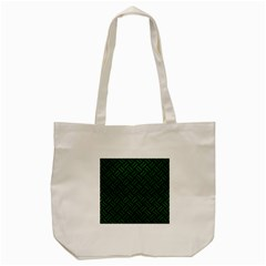 Woven2 Black Marble & Green Leather Tote Bag (cream) by trendistuff