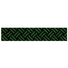 Woven2 Black Marble & Green Leather Flano Scarf (small) by trendistuff