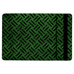 Woven2 Black Marble & Green Leather (r) Ipad Air Flip by trendistuff