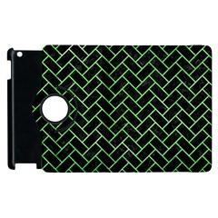 Brick2 Black Marble & Green Watercolor Apple Ipad 3/4 Flip 360 Case by trendistuff