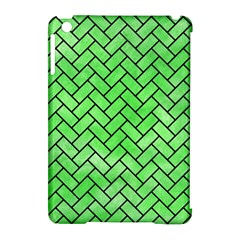 Brick2 Black Marble & Green Watercolor (r) Apple Ipad Mini Hardshell Case (compatible With Smart Cover) by trendistuff