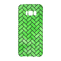 Brick2 Black Marble & Green Watercolor (r) Samsung Galaxy S8 Hardshell Case  by trendistuff