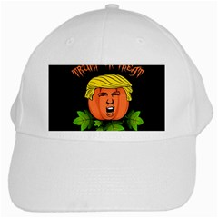 Trump Or Treat  White Cap by Valentinaart