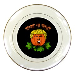 Trump Or Treat  Porcelain Plates by Valentinaart