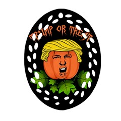 Trump Or Treat  Oval Filigree Ornament (two Sides) by Valentinaart