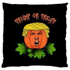 Trump Or Treat  Large Flano Cushion Case (one Side) by Valentinaart